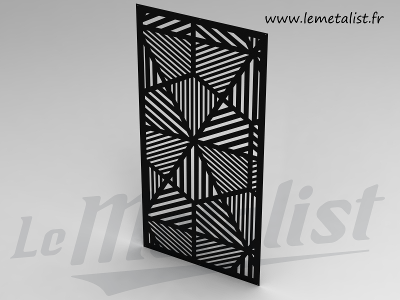 panneau ajour en m tal personnalisable choisissez les dimensions la couleur et le motif ou. Black Bedroom Furniture Sets. Home Design Ideas