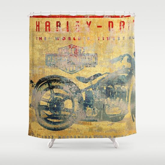 Hd Is An American Motorcycle Manufacturer Founded In Milwaukee Wisconsin During The First Decade Of The 20th Centur Vintage Motorcycle Shower Curtain Vintage