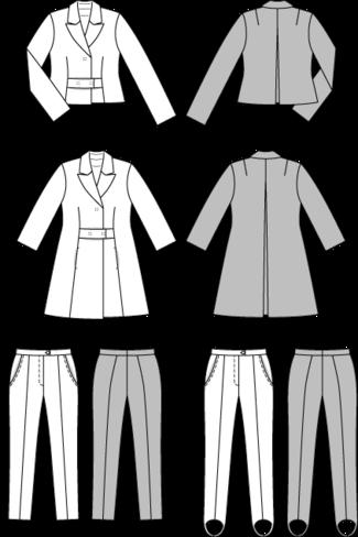 Burda 7162. stretch woven pants. 16 22. | Hosenanzug, Burda