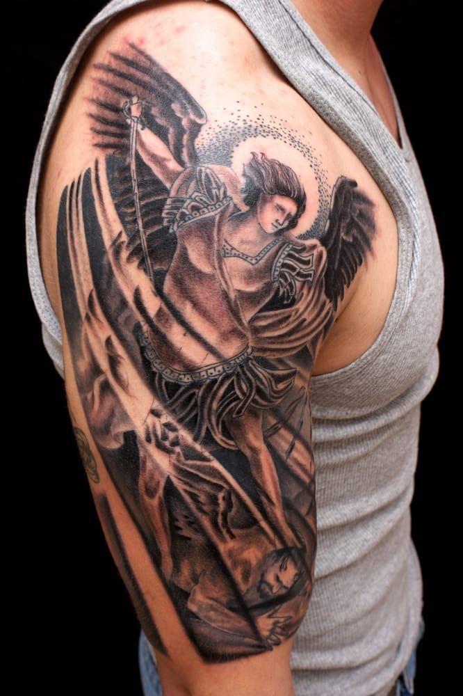 ...  Riverside Brian Foster inkaholics.com Tattoo angel St. Michael