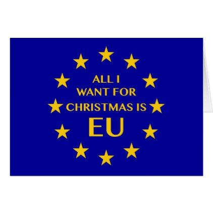All I Want For Christmas Is Eu Christmas Card Zazzle Com With