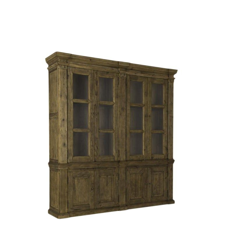 Sarreid Ltd Groton 2 Part Bookcase Cabinet