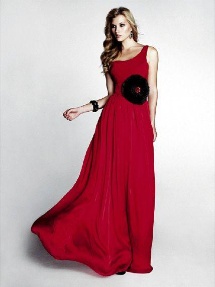 d68c9610bb Vestido de Fiesta Rojo Largo de un Solo Hombro