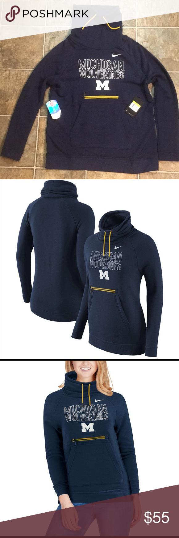 Nike Michigan Wolverines Women Modern Neck Hoodie Neck Hoodie Clothes Design Sweatshirts Hoodie [ 1740 x 580 Pixel ]