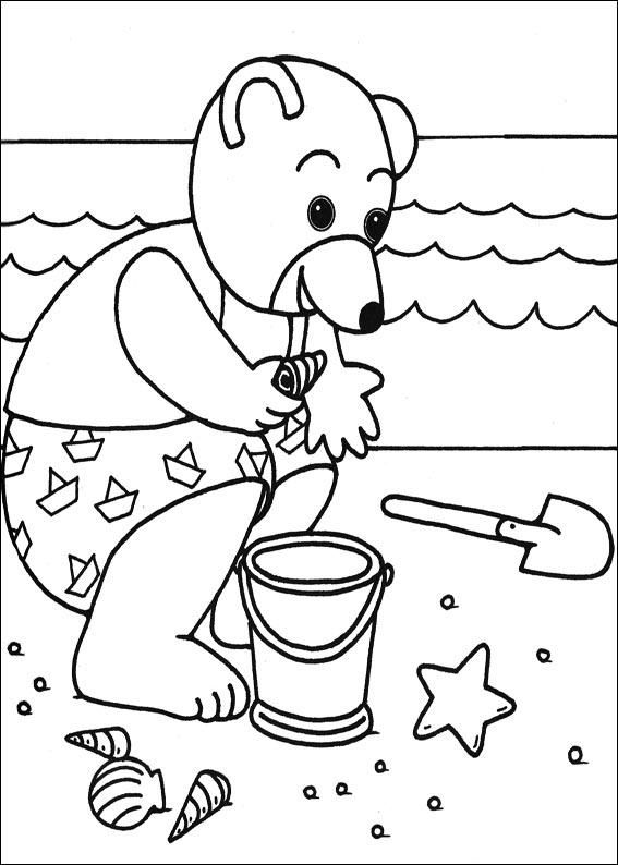 Coloriage petit ours brun ramasse des coquillages coloriage bb pinterest petit ours brun - Dessin coquillage ...