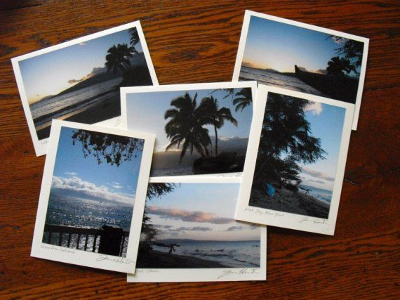 Maui Photo Note Cards Hawaiian Maui Dawn Hawaii by sferradesigns