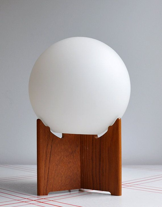 Swedish Teak Globe Lamp MINT