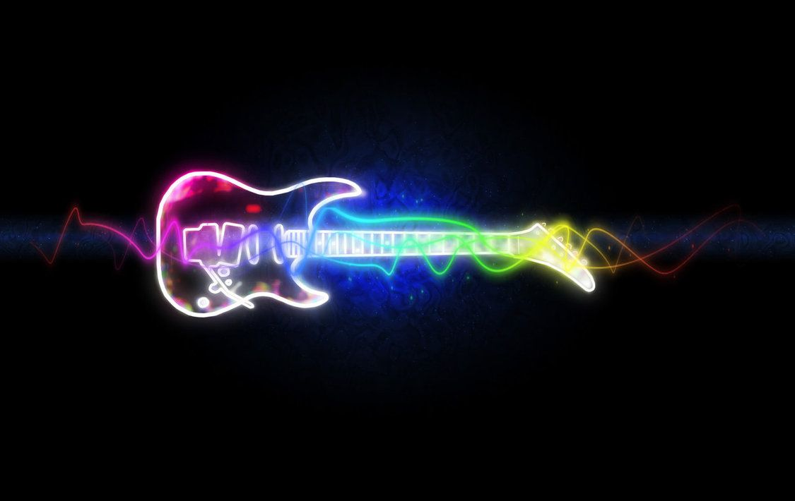 Neon Music Notes Background: Cool Music Wallpapers On Pinterest