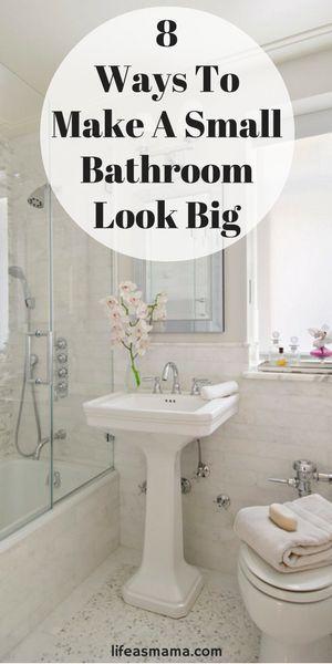 8 Ways To Make A Small Bathroom Look Big  Tiny Bathrooms Banks Unique Small Bathroom Remodel Review