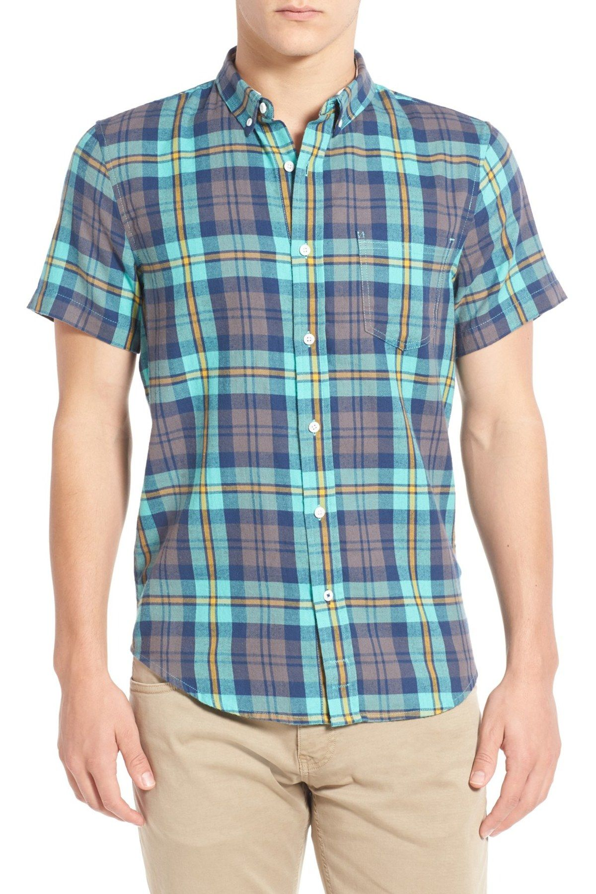 Flannel shirts at kohl's  Plaid Short Sleeve Woven Flannel Shirt  Plaid shorts Short sleeves