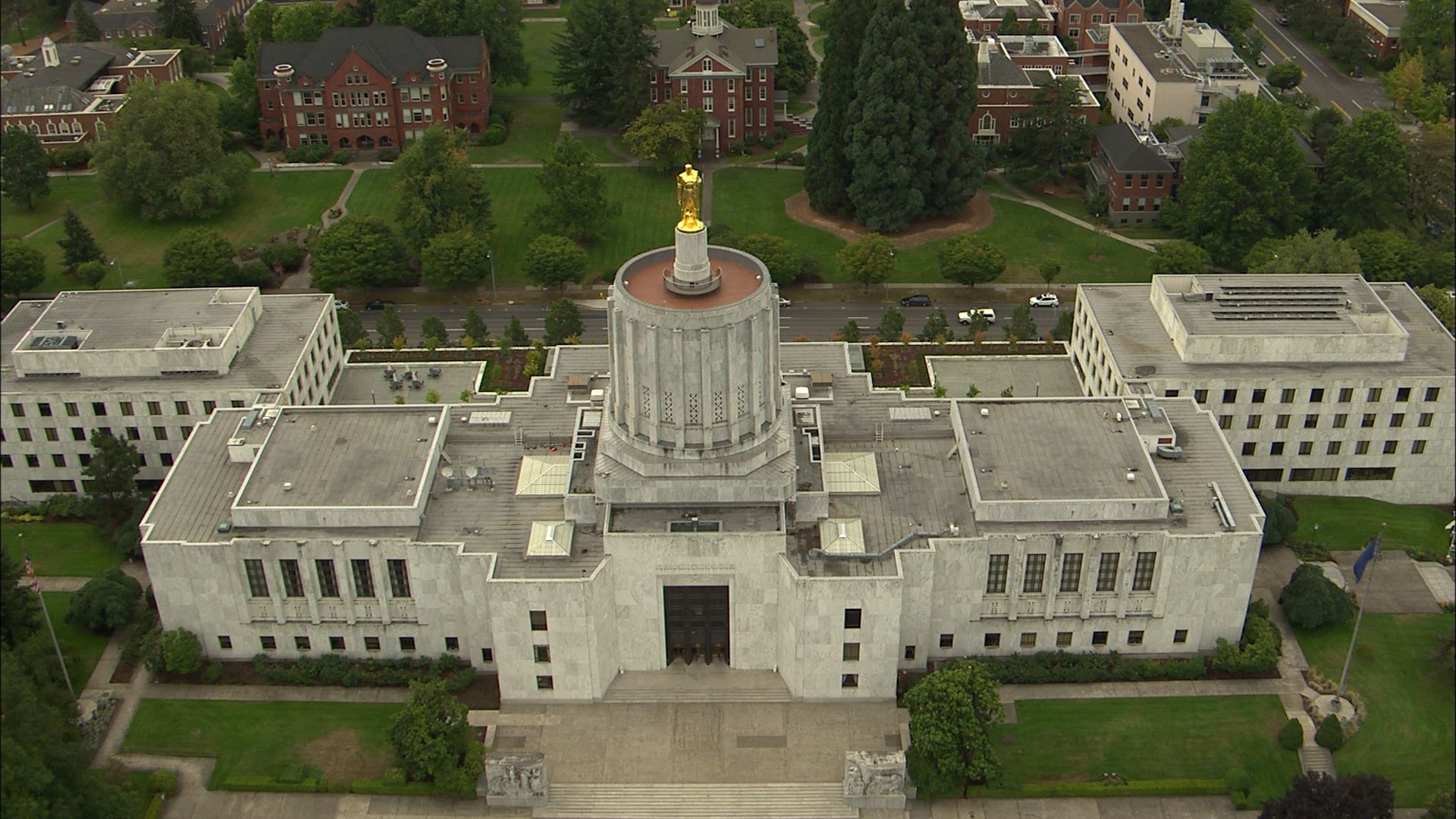 Salem Oregon Aerial view of the state