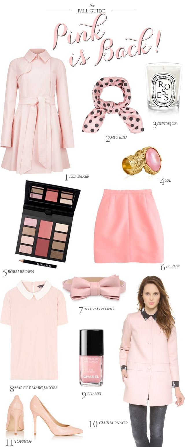 Fashion: Pink is Back  and so cute   XXXbureauofjewels/etsy and facebook