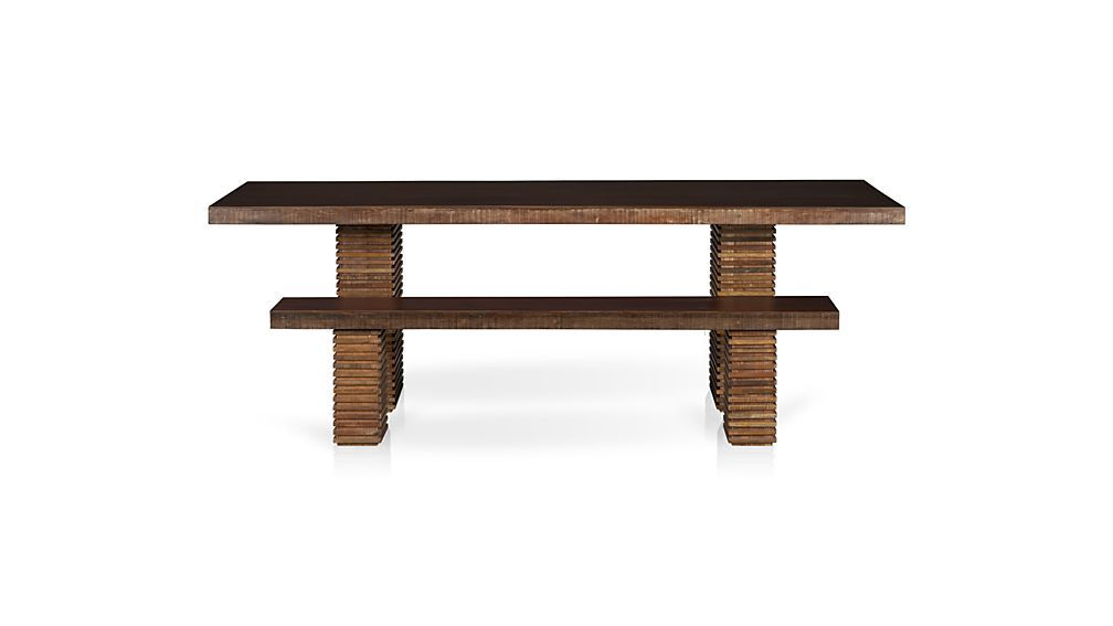 Paloma I Bench Crate And Barrel Reclaimed Dining Table Dining