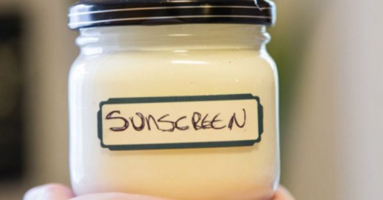 This whipped sunscreen moisturizes skin while protecting