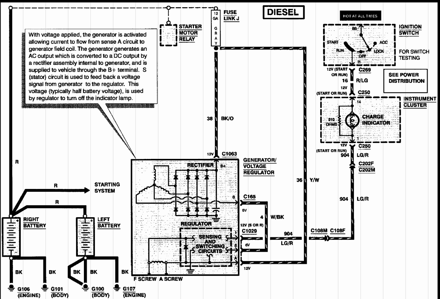 Ford F 250 Alternator Wiring Diagram | Wiring Diagram Ford F Alternator Wiring Diagram on ford f250 horn wiring diagram, ford f250 reverse lights wiring diagram, ford f250 trailer wiring diagram,