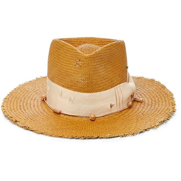 1b8b64f6fa7 Nick Fouquet Fassano Straw Hat ( 650) ❤ liked on Polyvore featuring  accessories