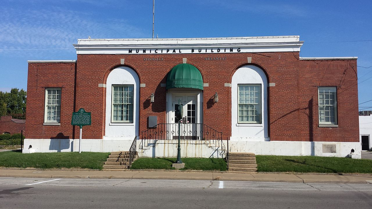 City Hall in Mississippi County, Arkansas