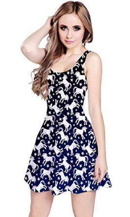 CowCow Womens Unicorn Seamless Sleeveless Skater Dress  Amazon Fashion 6edc6737d
