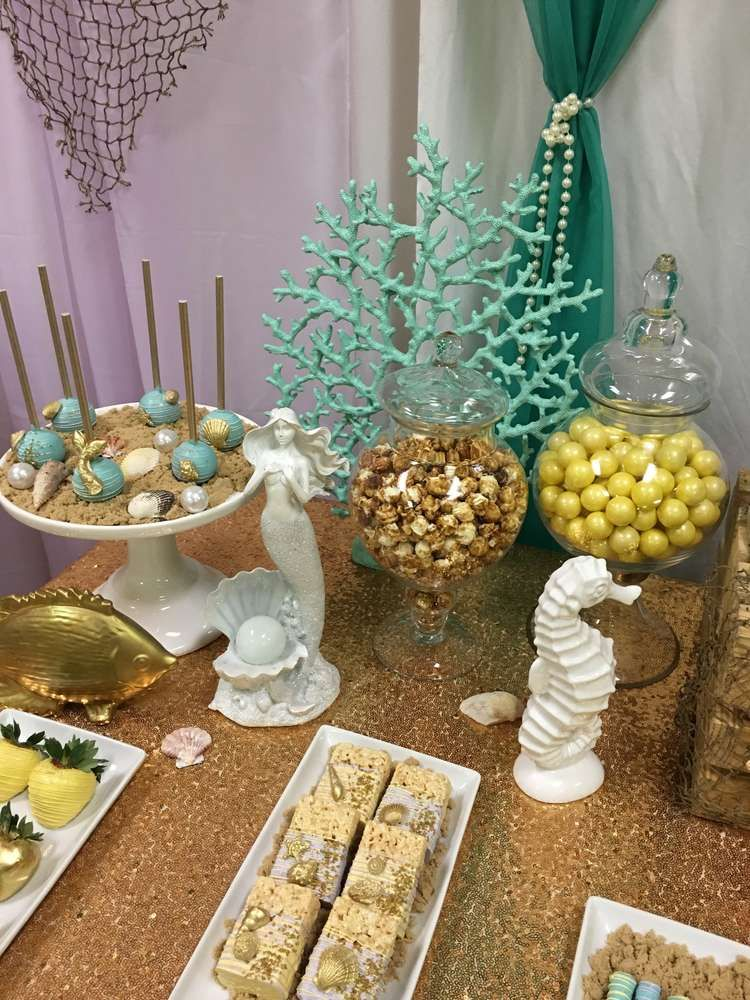Mermaid Themed Baby Shower Baby Shower Party Ideas   Photo 1 Of 10