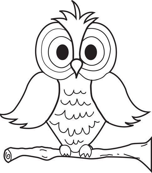 Cartoon owl coloring page http designkids info cartoon owl