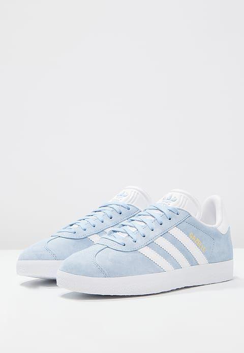 huge discount b7f7d 74577 Chaussures adidas Originals GAZELLE - Baskets basses - clear skywhitegold  metallic bleu