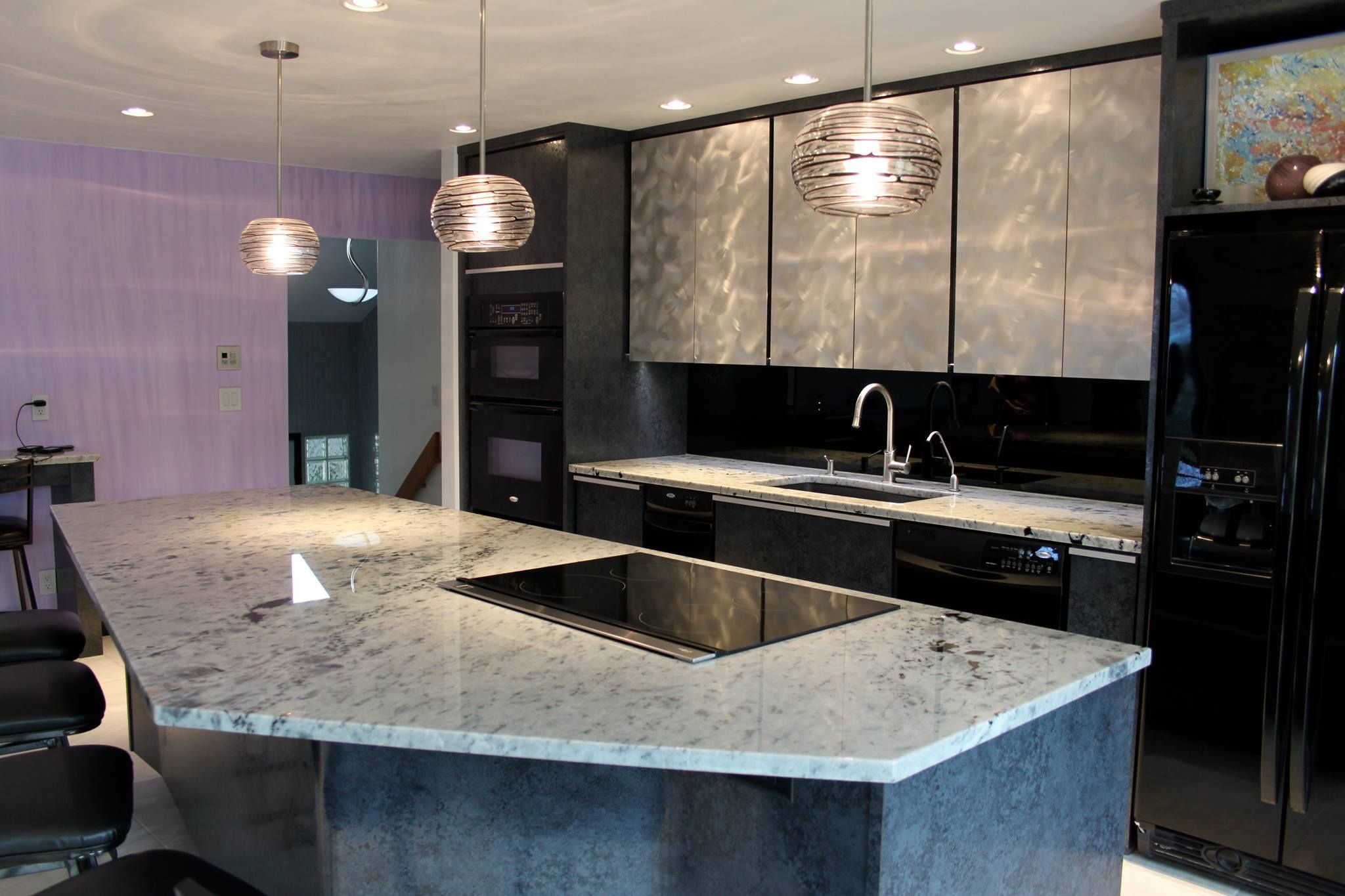 Love The Way The Cabinets, Light Fixtures And Countertops Play Off Each  Other! |