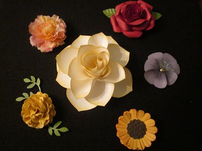 Creating With Carol: Punche Flowers Class