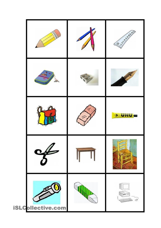 Schulsachenmemory | Daf-Wortschatz | Pinterest | Unterricht lesen ...