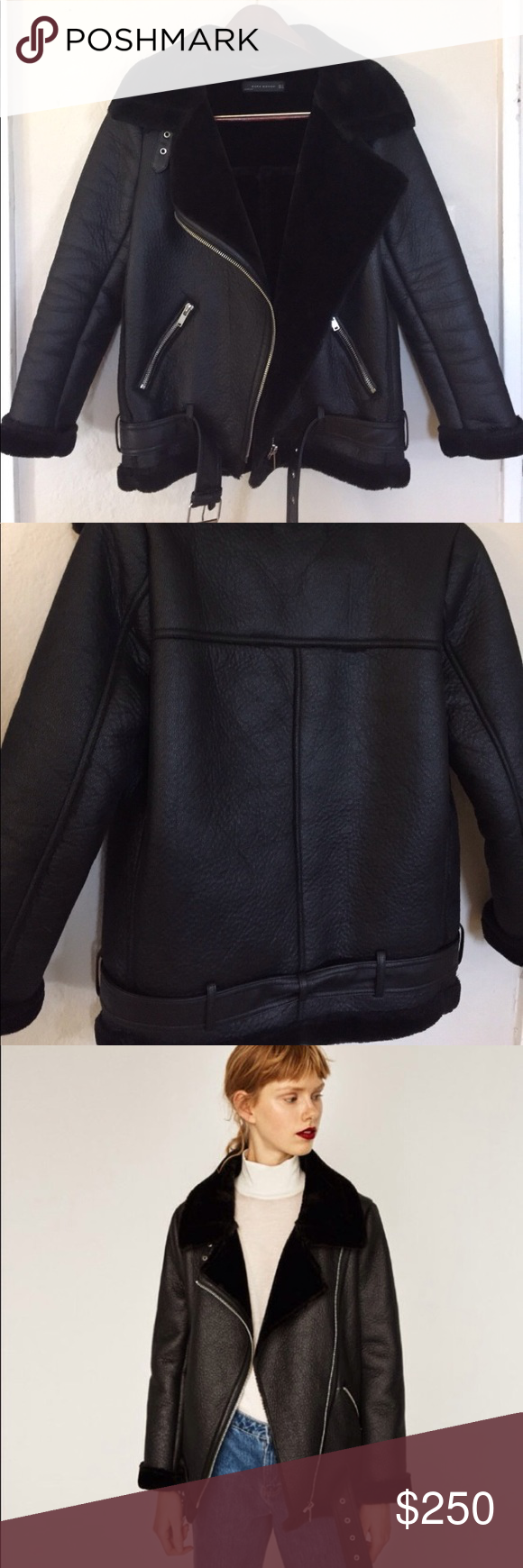 Zara Oversized NWOT Faux Fur Leather Jacket/Coat! Item is