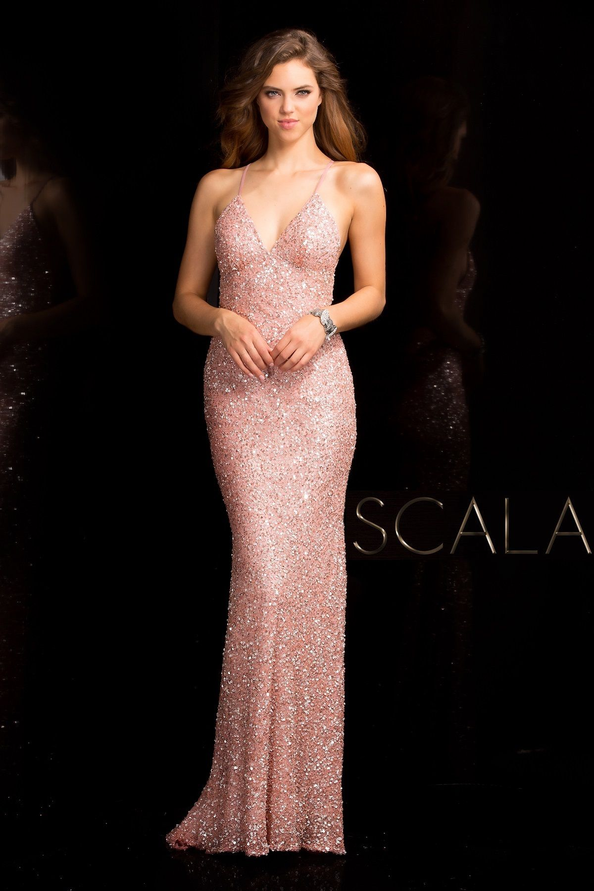 SCALA Spring 2017 style 47551 New Rose. #scalausa #spring2017 #prom ...