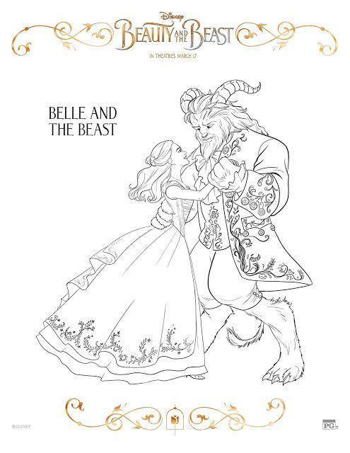 Enchanted Rose Printable Bookmark For Beauty And The Beast With Coloring Sheets