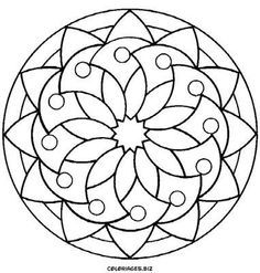 simple mandalas google search - Simple Pictures To Color