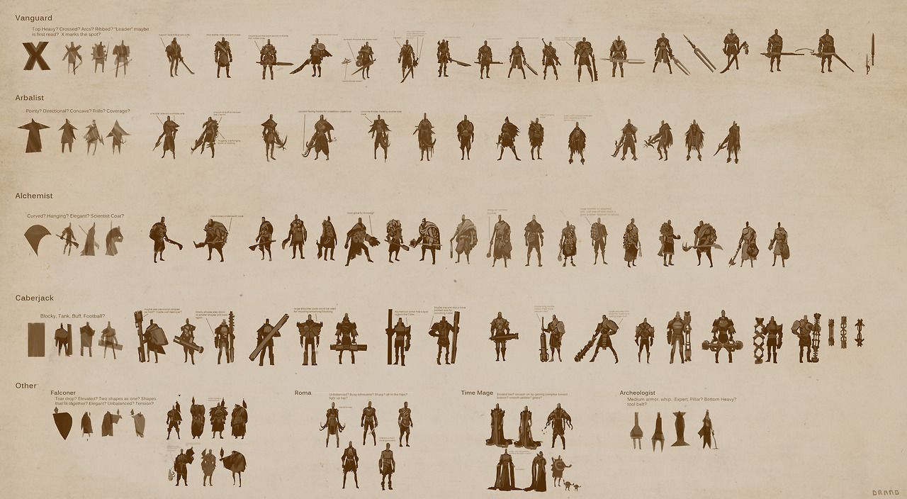Massive Chalice character design sheet. Clean, simple and consistent presentation.