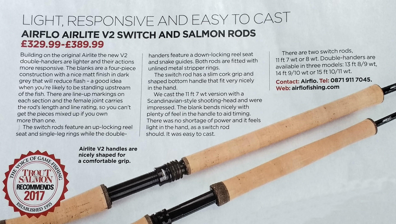 Trout & Salmon magazine love the new Airflo Airlite v2 double