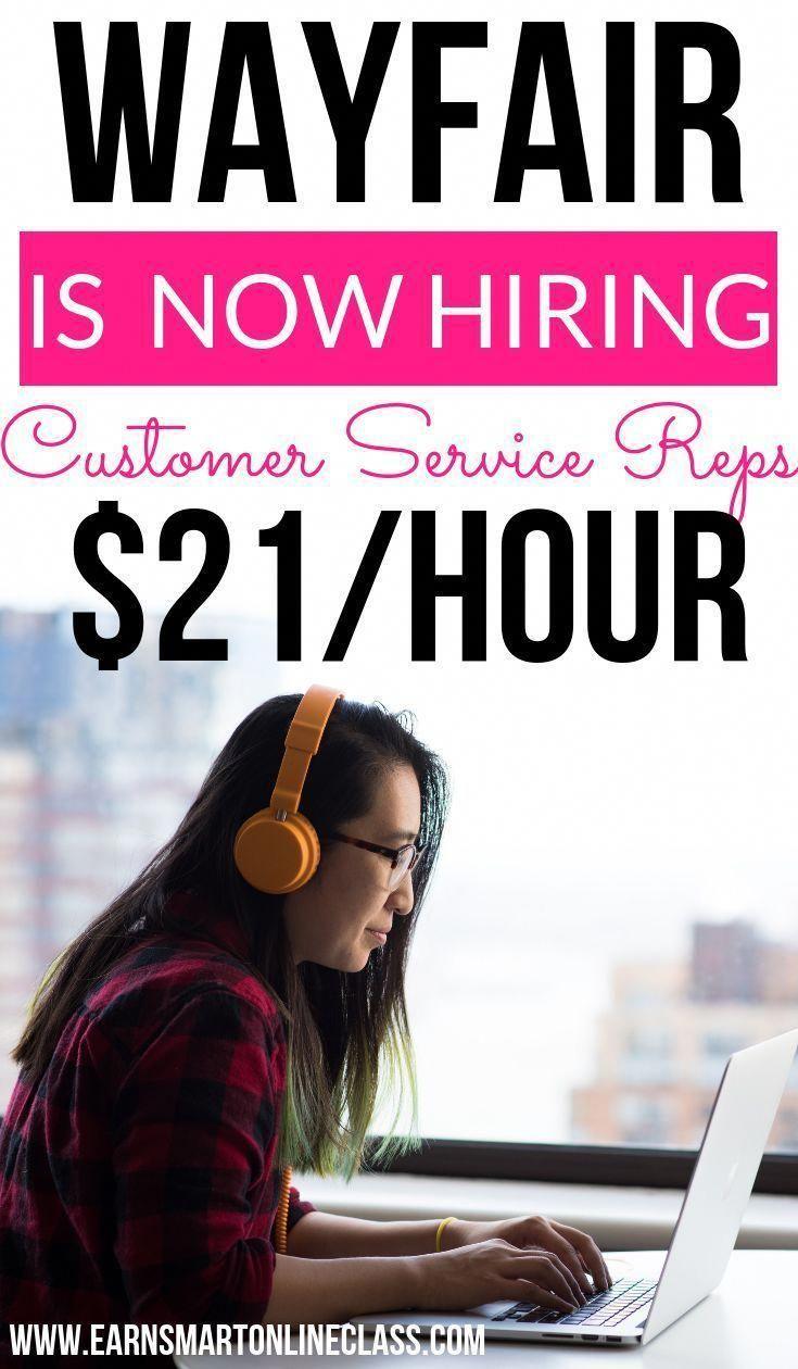 Wayfair is hiring work from home customer service