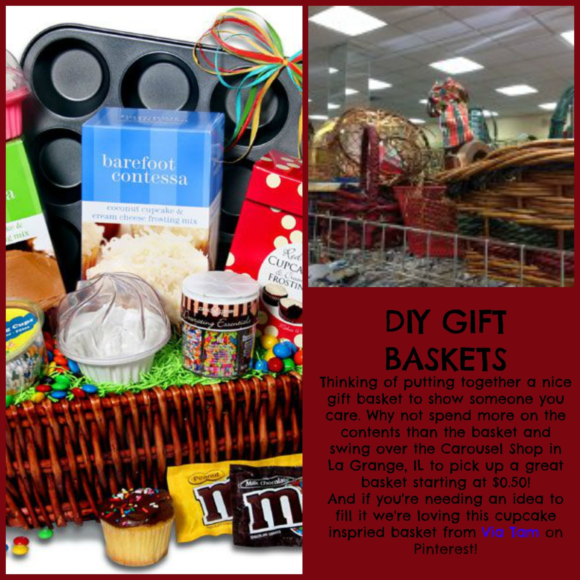 Holiday baskets on sale for the Christmas in July sale at the ...