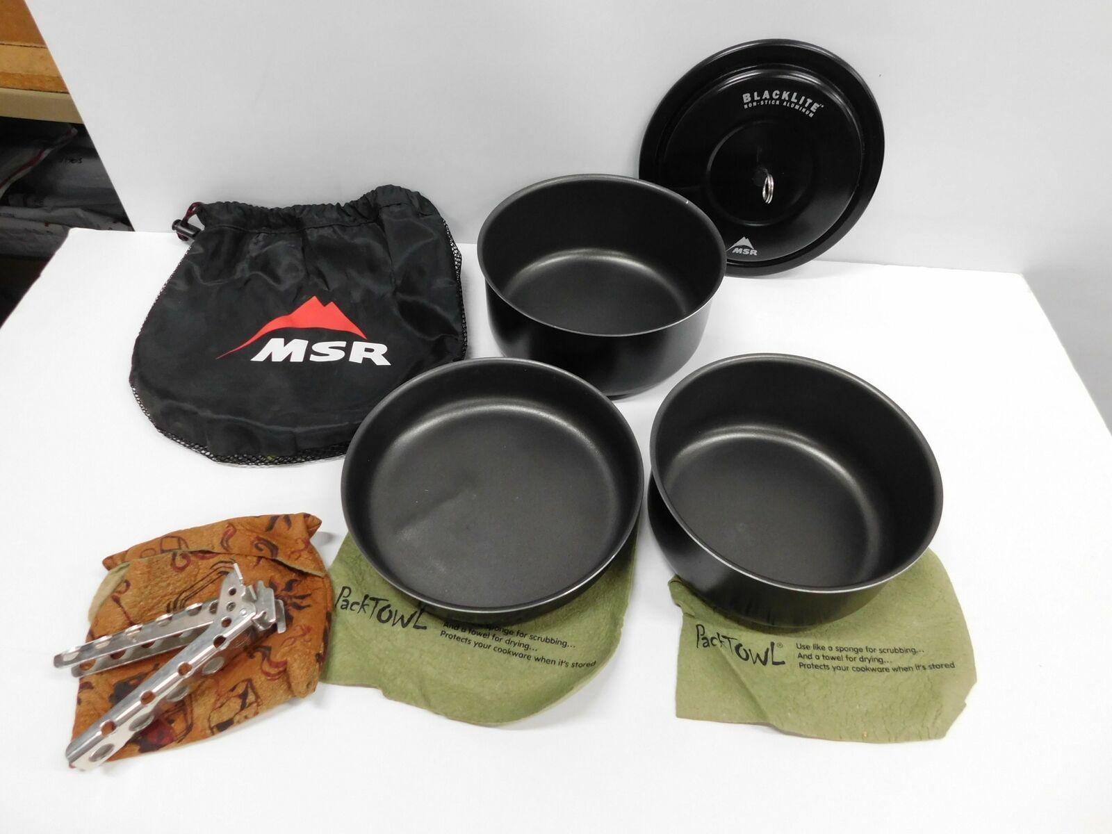 Msr Blacklite 3pc Aluminum Non Stick Camp Cook Set New Rare Read