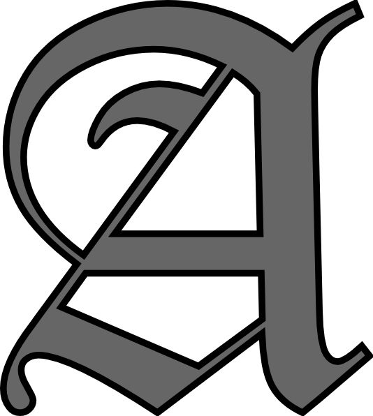 One Line Letter Art : Alphabet letter a clip art at clker vector