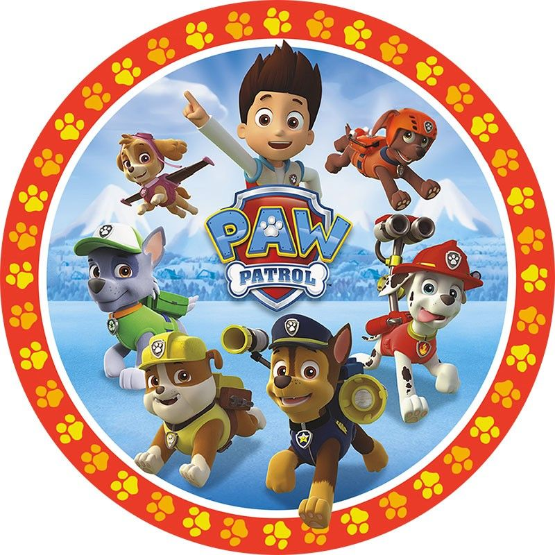 Paw Patrol Group Round 187 Round Prints 187 Licensed 187 Pre