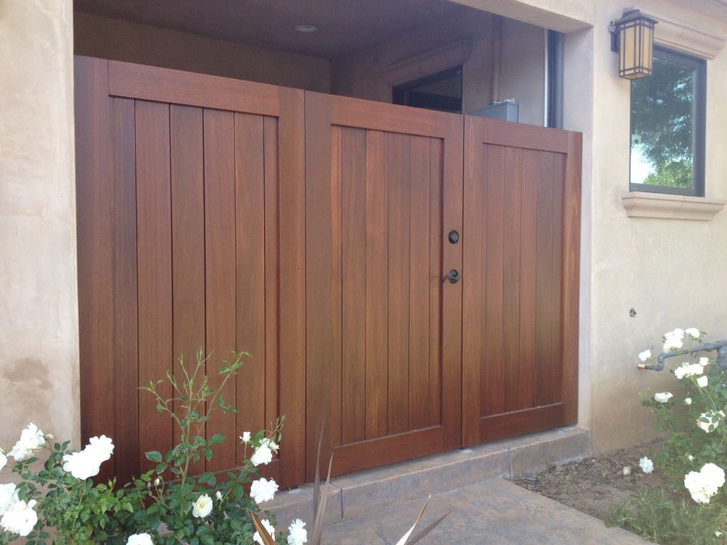 mangaris wood fence and gates w concealed metal framework san