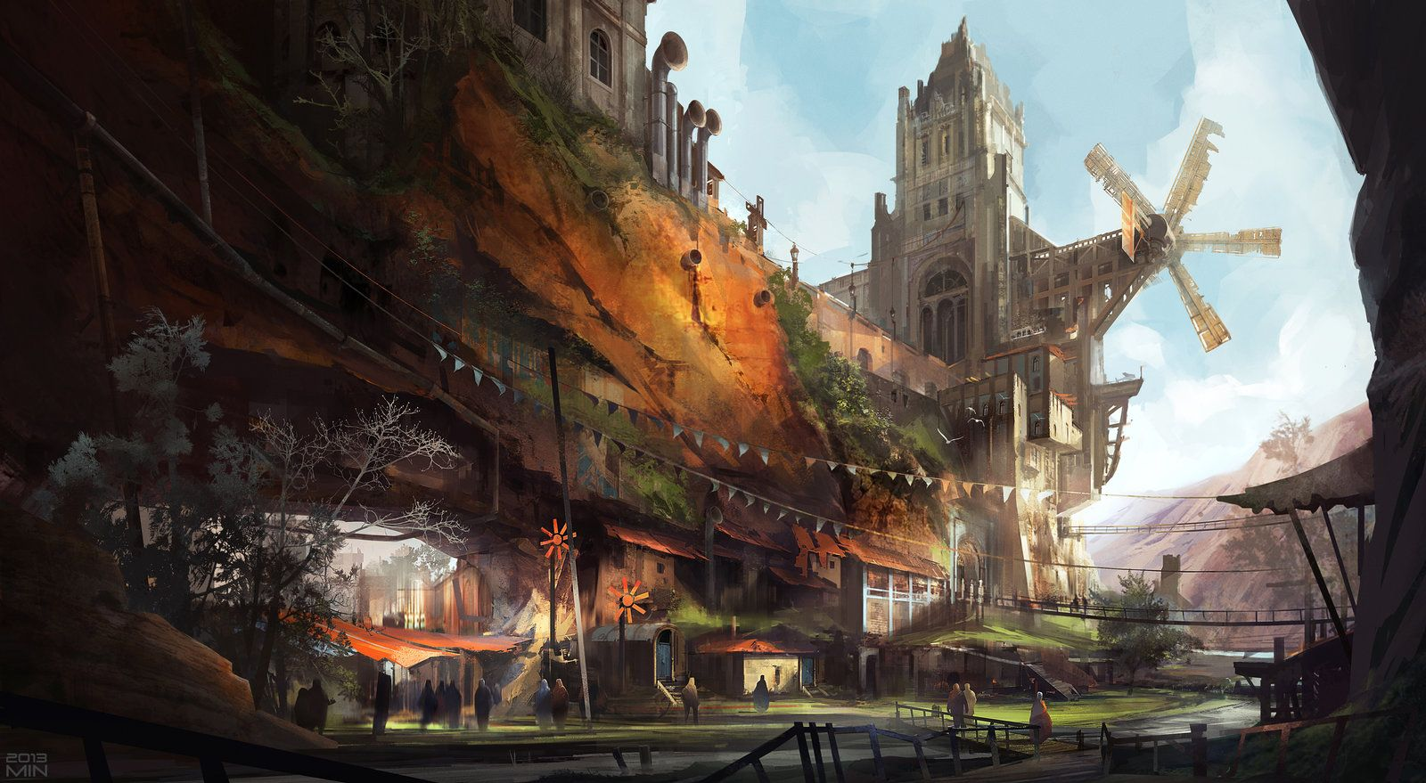 Wind city, Min Nguen on ArtStation at https://www.artstation.com/artwork/airship-74c55234-ed29-442d-a46e-29ee93e2eddd