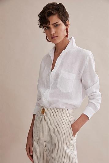 Organically Grown Linen Shirt   Linen shirts women, White linen ...