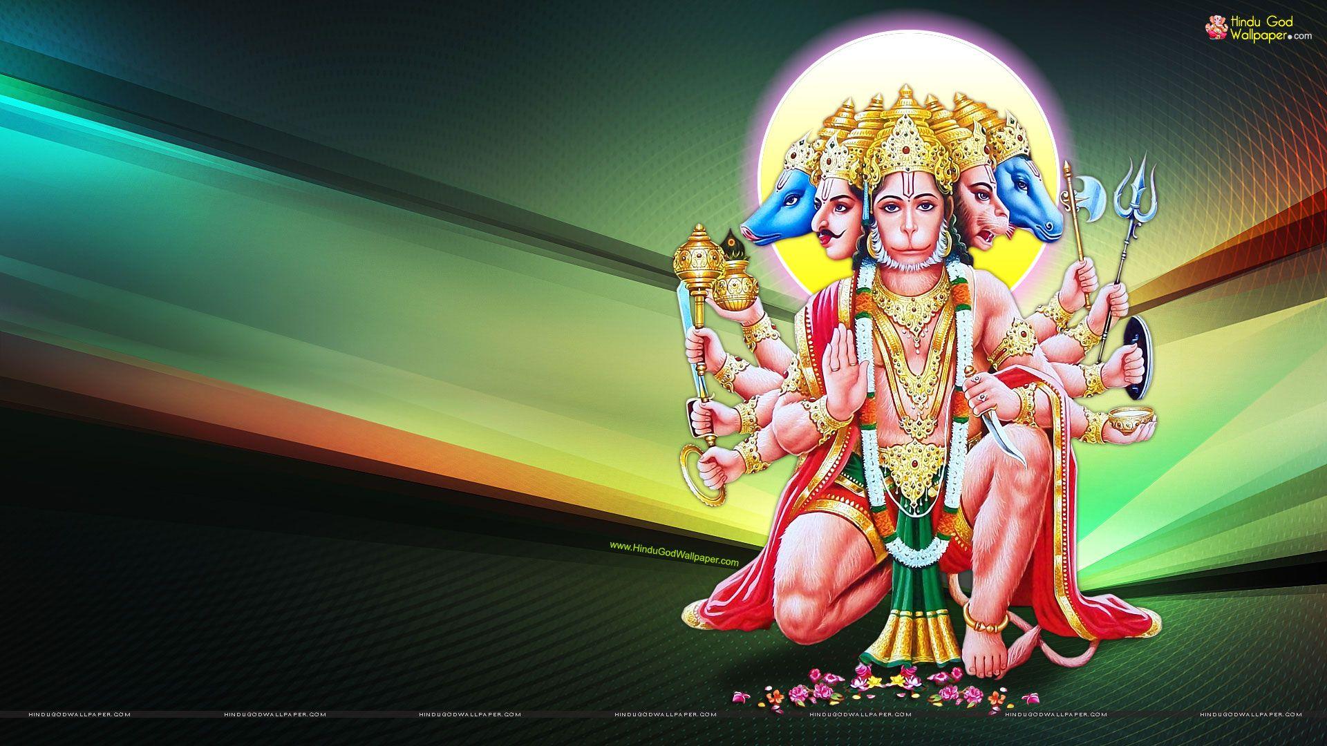 Panchmukhi Hanuman Hd Wallpapers Free Download Hanuman Wallpaper