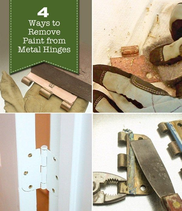 4 Ways to Remove Paint from Metal Hinges (& other door hardware) is part of Remove paint from metal, Paint remover, Painting hardware, Painting bathroom, Interior paint colors, Hinges - Do you find yourself in the unfortunately situation of having door hinges that have been painted over  I get your frustration  Almost every door hinge in our house has been painted over  Taping off a hinge