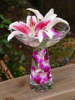 Spring wedding arrangement