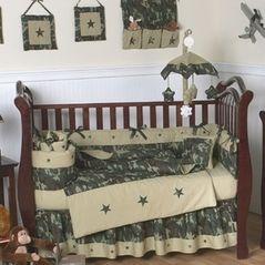 Green Camo Baby Bedding