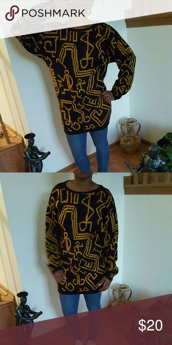 Hieroglyphic vintage sweater Detailed vintage sweater in great condition Sweaters Cardigans