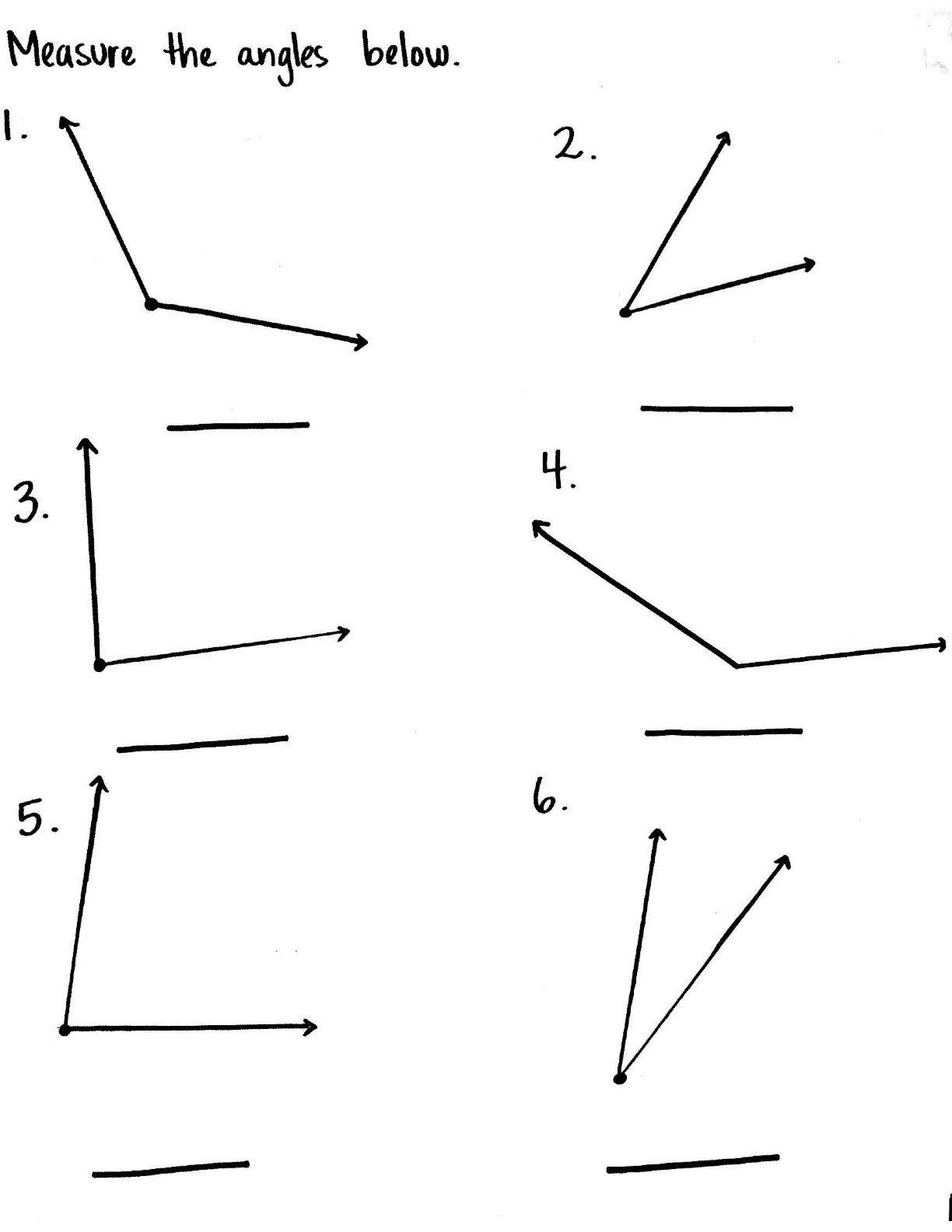 Angles Worksheet 4th   Printable Worksheets and Activities for Teachers [ 1584 x 1224 Pixel ]