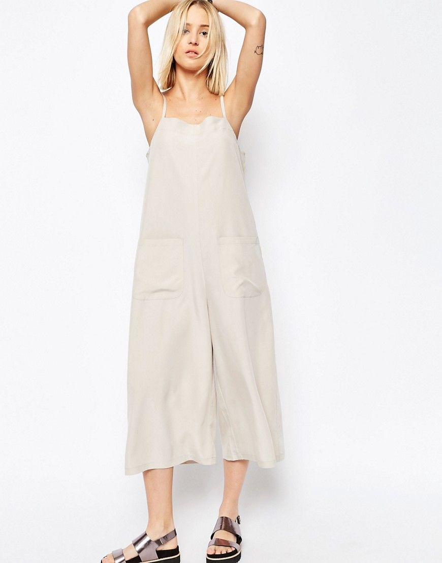 116bd8bc1340 ASOS Cami Jumpsuit with Culotte Leg and Pockets