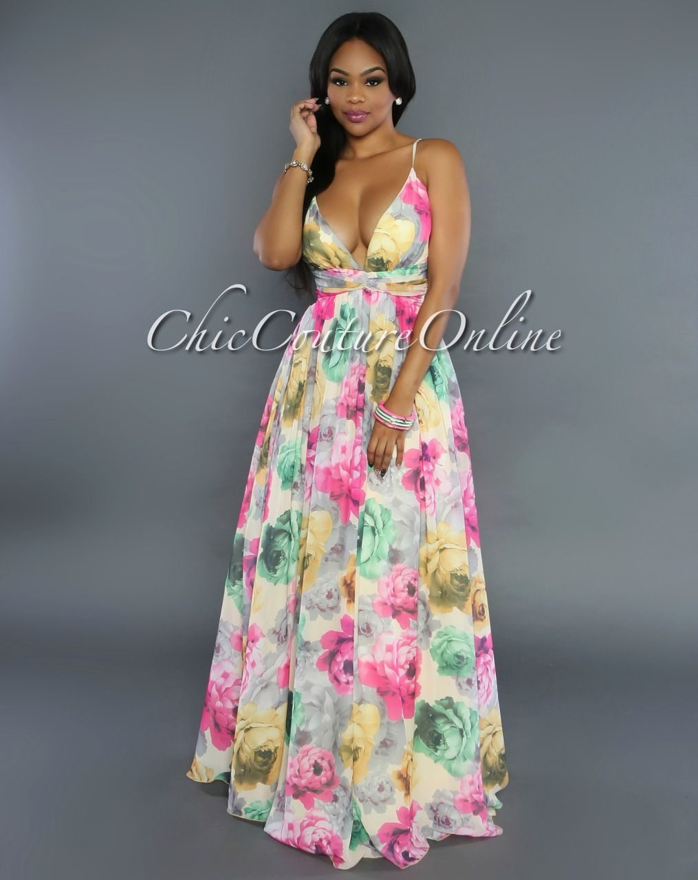 First impression maxi dress by mm couture